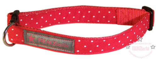 Hundehalsband Little Dots Red