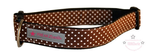 Hundehalsband Little Dots Brown